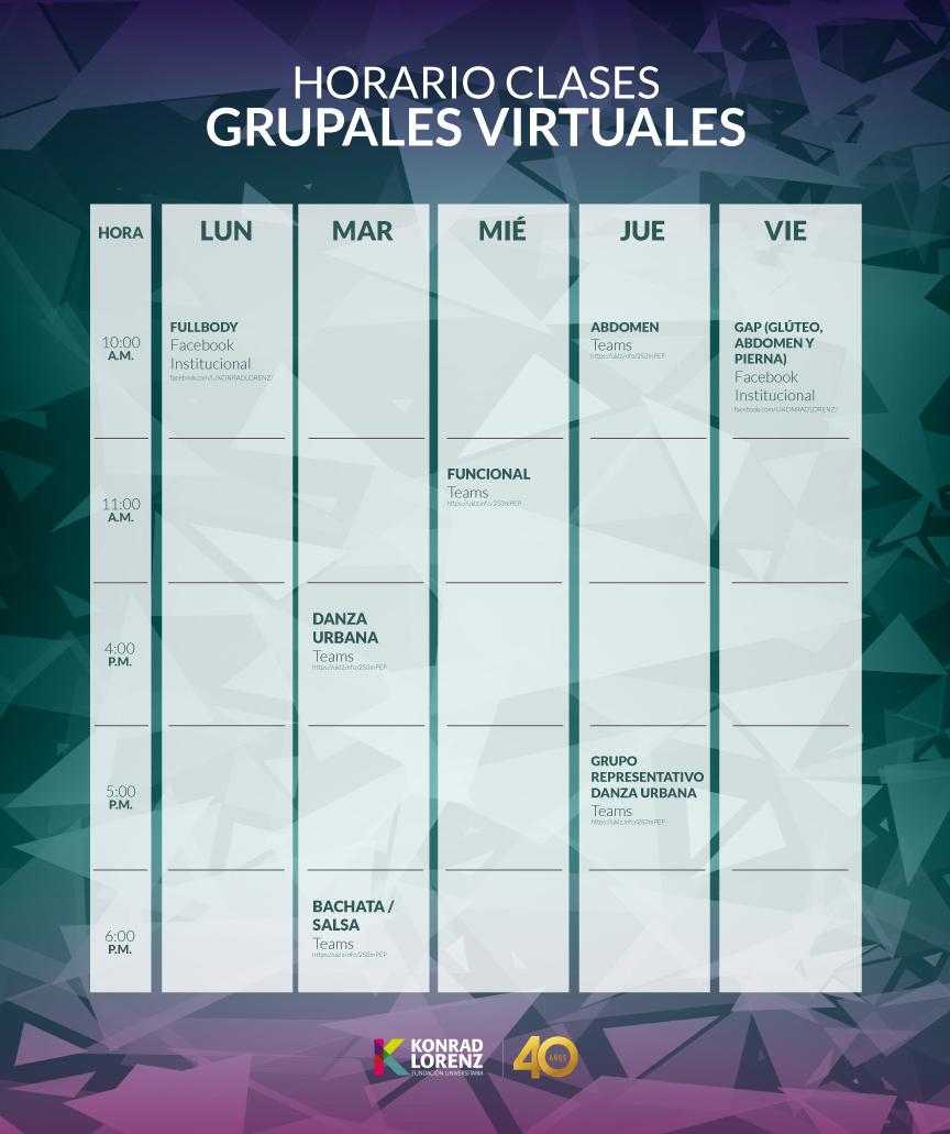 Konradista: ¡No te Pierdas las Clases Grupales Virtuales!